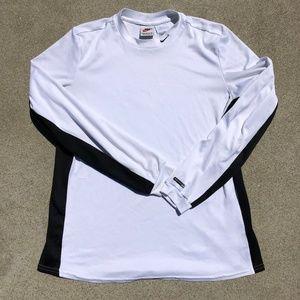 Vintage Nike Long Sleeve White Gym Workout Shirt